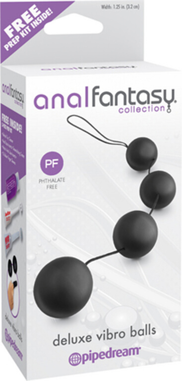 Анальные шарики Anal Fantasy Collection Deluxe Vibro Balls