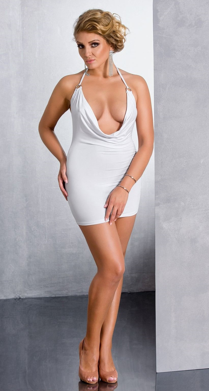 Ночная сорочка Passion Exclusive Miracle Chemise 6XL/7XL, белая