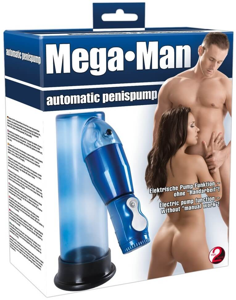 Автоматическая помпа Mega Men Automatic Penis Pump, синяя